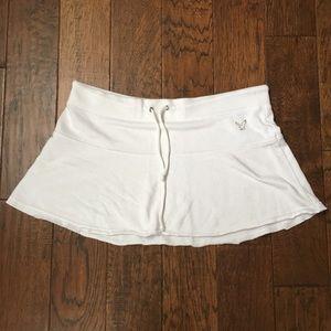 AEO White Terry Mini Skirt - XL